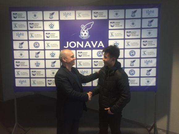 """Naujas puolėjas FK """"Jonava"""" sudėtyje – K. Heh"""